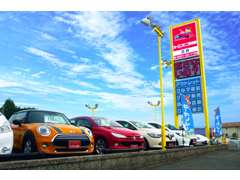 広い展示場には80台以上の車両がズラリ!いろいろな車を見比べる事ができます♪