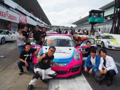ポルシェ最高峰レースPCCJや各レースも参戦しております。