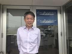 はじめまして!店長の長尾です!中古自動車販売士である私がお客様の車選びをしっかりサポートさせていただきます!