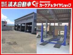 新工場 2柱・4柱リフトで速やかにエンジンオイル・タイヤ交換など対応します
