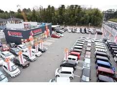 四街道吉岡十字路の1000坪の敷地に在庫100台以上ご用意しております。