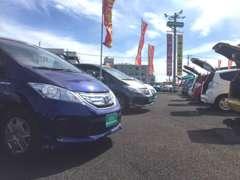 当店は約100台の展示車を並べております!お客様にあったぴったりの一台をご提案致します!!