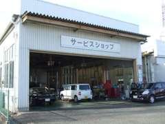 新車店舗・サービス工場も併設しております。ご購入後、点検整備を行い、御納車致します♪
