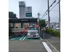神戸トヨペット 川西店と隣接した展示場