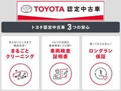充実した保証がつくから、さらに安心なネッツトヨタのU-Car