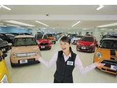 西日本最大級!全天候型の屋内展示場!雨の日も、暑い日も、快適にお車をゆっくりご覧いただけます!