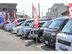 第二展示場にはお買い得な国産車もございます。