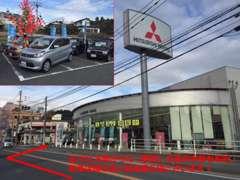 広川IC方面から久留米市内に向かっていくと右側にございます!中古車展示場は新車店舗の奥にございます!