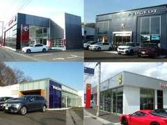 広大な敷地の内には正規代理店である、アルファロメオ/フィアット・プジョー・ボルボの新車ショールームもございます。