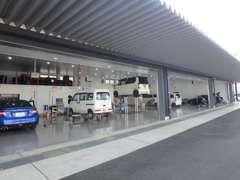自社工場は九州運輸局指定工場になります。アフターも安心です!
