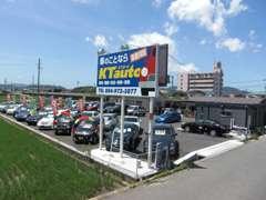 神辺486号線通りにある神辺店です!!100台のお車がお客様をお出迎えいたします!!