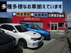 真っ赤な店舗が目印です!出張買取、現金買取行っております。思い入れのあるお車大事に買取ります。