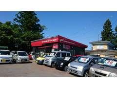 米沢北ICから5分、トヨタ純正部品さんが向かいです♪米沢駅・高畠駅ご来店の際は駅までお迎えに行きます!