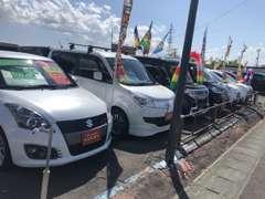 常時約90台を展示中です!軽自動車・コンパクトカー展示してます