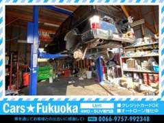 ☆自社ガレージでお客様のお車をしっかりと整備させていただきます!