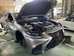 自社車検認証整備工場完備。